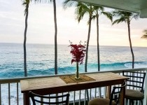 [Image: Top Floor Oceanfront Unit with Lanai for Outdoor Dining!]