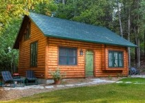 [Image: Door County Log Cabin in Ephraim, #1 Small Town in Midwest]