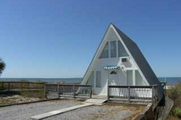 [Image: Private Beach Front Cottage 'a Frame'-$500-$1095/wk]
