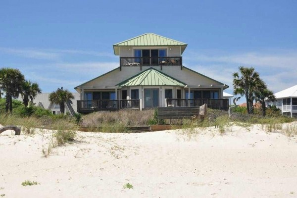 [Image: Mariner'S Compass: 3 BR / 3 BA Beach House in St George Island, Sleeps 9]