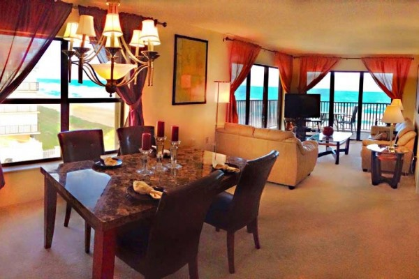 [Image: Panoramic Ocean View from This Corner Condo with Balcony. Direct Ocean Front!]