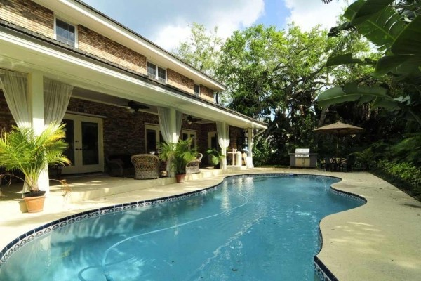 [Image: Castaway Tropical Paradise-Five Bedroom Pool Home Short Walk from Private Beach]