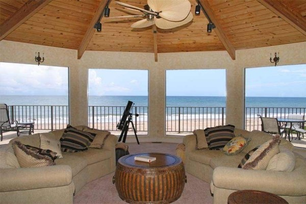 [Image: Splendid Sunrise- Four B/R Oceanfront. Fall Special $2480/wk. Plus Fees.]