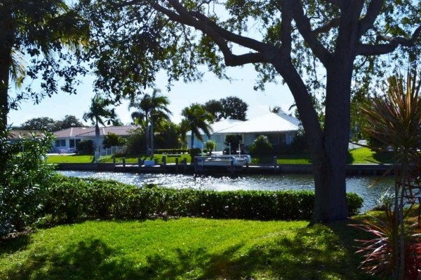 [Image: Upscale Waterfront Home with Manatees in Your Back Yard]