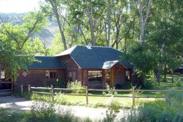 [Image: Woods Landing Guest Cabin on the Big Laramie River]