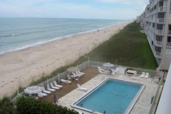 [Image: Oceanfront Condo--View Ocean-Beach-Pool from Private Balcony!]