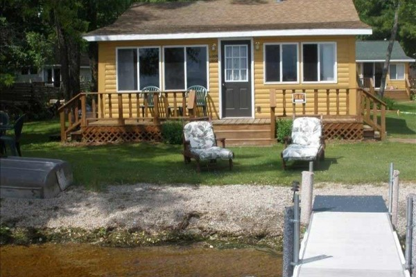 [Image: Crivitz Cabins for Rent on Lake Noquebay]