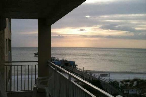 [Image: Beachfront! Roomy Condo, Pool Onsite, Steps Away from the Beach!]