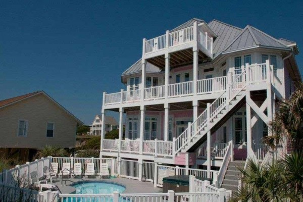 [Image: 1 Tickled Pink: 8 BR / 10.5 BA Single Family in Emerald Isle, Sleeps 16]