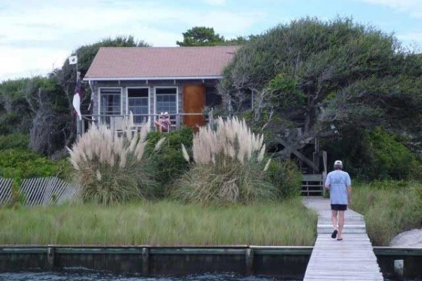 [Image: Rustic Cottage with Dock Overlooking Cape Lookout]